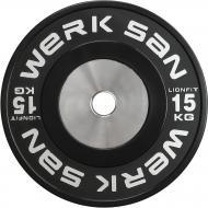 Диск для грифа Werksan DLIO101 Lionfit 15 кг