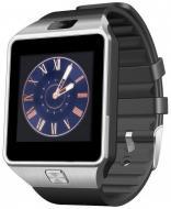 Смарт часы телефон DZ09 Smart Watch original Серебро Silver - Black