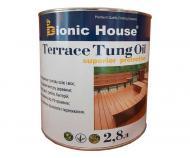 Масло тунговое Bionic House для террас Terrace Tung Oil прозрачный 2,8 л