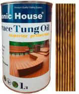Масло тунговое Bionic House для террас Terrace Tung Oil орех 1 л