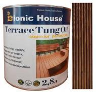 Масло тунговое Bionic House для террас Terrace Tung Oil полисандр 2,8 л