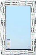 Вікно поворотно-відкидне VIKNALAND В 70 800x1200 мм праве (К)