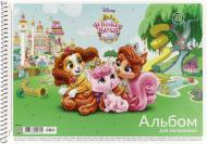 Альбом для малювання на спіралі А4 30 арк. глітер Disney, Star Школярик