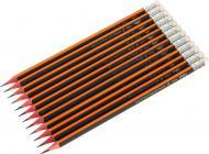 Олівець графітний з гумкою НВ 12 шт. 37014 Deli