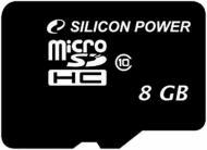 Карта памяти Silicon Power microSDHC 8GB card Class 10 без adapterа (SP008GBSTH010V10)