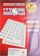 Етикетки UPM-Kymmene Crystal А4/16 105x37,1 мм 25 аркушів