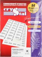 Етикетки UPM-Kymmene Crystal А4/36 70x24 мм 25 аркушів