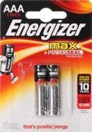 Батарейка Energizer Max E92 ААА 2 шт. (E300134800)