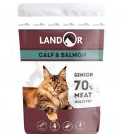 Консерва для котів похилого віку LANDOR Senior Телятина та лосось 85 г