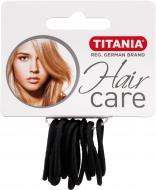 Резинка TITANIA для волосся 12 шт., діаметр 3 см,чорна 7800