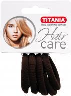 Резинка TITANIA для волосся 6 шт. коричнева 7869