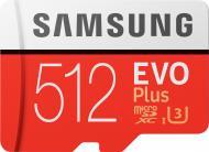 Карта пам'яті Samsung microSDXC 512 ГБ Class 10 (MB-MC512GA/RU) UHS-I U3 R100/W90MB/s Evo Plus