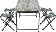 Комплект мебели раскладной стол + 4 стулья PN00002 листья