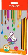 Олівці кольорові 12 шт. PC1406/0 Tripod Y PLUS