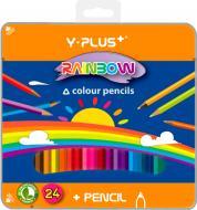 Олівці кольорові 24 шт. Z010 Rainbow Y PLUS