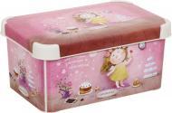 Контейнер для зберігання пластиковий Curver Love story Gapchinska S рожевий 140x200x300 мм