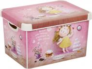 Контейнер пластиковий Curver Love story Gapchinska L рожевий 230x300x400 мм