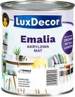Эмаль акриловая LuxDecor снежно белая мат 0,75л