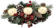 Декорація новорічна Підсвічник на 3 свічки 28 см W01-1291/7