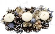 Декорація новорічна Підсвічник на 3 свічки 28 см W01-1293/7A