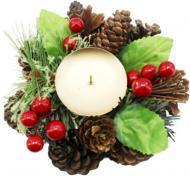 Декорація новорічна Підсвічник на 1 свічку 15 см W01-1266/11