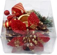 Декорація новорічна Підсвічник на 1 свічку 10 см W01-004/51