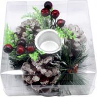Декорация новогодняя Подсвечник на 1 свечу 10 см W01-004/52