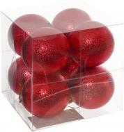 Набір іграшок Куля рельєфна червона d60 мм 8 шт./уп.