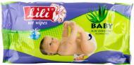 Вологі серветки Lili  Baby з екстрактом Алое вера 60 шт.