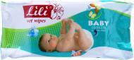 Вологі серветки Lili  Baby з екстрактом календули і вітаміном Е 60 шт.
