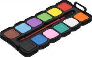 Фарби акварельні 12 кольорів із пензликом VGR