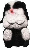 Фігурка садова Кролик-3 чорно-білий
