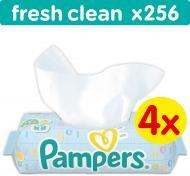 Вологі серветки Pampers baby fresh clean Aloe Quatro 256 шт.