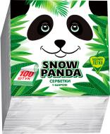 Серветки столові Сніжна Панда  24х24 см білі 100 шт.