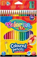Олівці кольорові трикутні з чинкою, 18 кольорів
