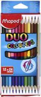 Олівці кольорові Color'peps Duo 12 шт. 24 кольори Maped