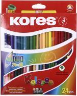 Олівці кольорові DUO K93224 24 шт. 48 кольорів Kores
