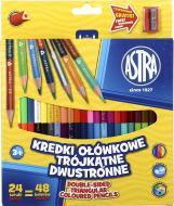 Олівці кольорові 24 шт. 48 кольорів з чинкою Astra
