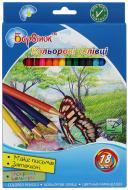 Олівці кольорові 5-203/2 18 шт. Барвінок