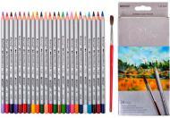 Олівці кольорові з пензликом Raffine акварельні 24 кольори