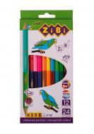 Олівці кольорові 12 шт. 24 кольори Kids Line Double ZB.2463 ZiBi