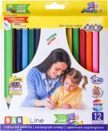 Олівці кольорові Jumbo Baby Line 12 кольорів ZB.2452 ZiBi
