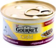 Корм Purina  Gourmet Gold шматочки з куркою і печінкою в підливі 85 г 12130919