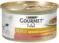 Корм Gourmet Gold з качкою та індичкою 85 г
