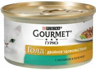 Корм Gourmet Gold з кроликом і печінкою 85 г