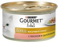 Корм Gourmet Gold з куркою та лососем в соусі 85 г