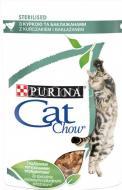 Консерва Cat Chow для стерилізованих котів Sterilized З куркою та баклажанами в желе 85 г