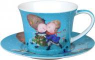Чашка с блюдцем Первый поцелуй 220 мл 924-343 Gapchinska