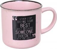 Чашка Motivation Pink 340 мл, керамика Bella Vita