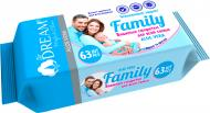 Вологі серветки Аir Dream Family з алое вера 63 шт.